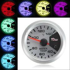 7 Color 2'' 52mm Digital LED Water Temperature Temp Gauge Meter With Sensor 12V