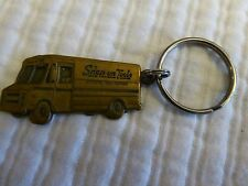Vintage (?) Brass? Snap On Tools Truck Key Chain Old Logo