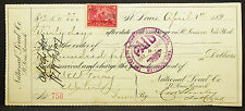 US Check St. Louis National Lead Co. First National Bank 1900 USA Scheck (H-8299