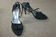 Ladies Black Diamante Strappy Shoes Sie 5 by Liberta Evening Party