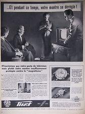 PUBLICITÉ DE PRESSE 1953 MONTRE TISSOT CONTRE LE MAGNÉTISME - ADVERTISING