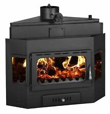 Fireplace Built in Insert Inset Modern MultiFuel Wood Burning Stove Prity АW20