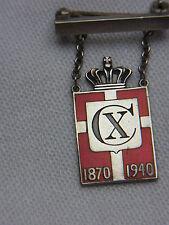 Miltaria spilla brooch King emblema 1870-1940 Danimarca di Georg Jensen n. 3