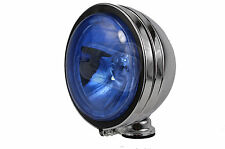 "small 4"" car chrome spot lamp lights angel eye halogen BLUE 12v spotlights fog"