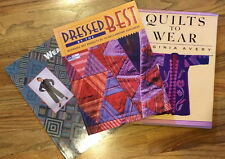 Group Three (3) Sewing Books/Wearable and Quilted Art Clothing Projects