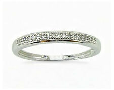Big Value! 100% 10K White Gold Micro-Pave Diamond Anniversary Band - Stackable