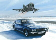 Jensen Interceptor Phantom FGR.2 Car Aviation Aircraft Art Painting Print