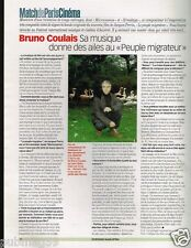 Coupure de Presse Clipping 2002 (1 page) Bruno Coulais