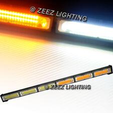 60W Amber&White COB LED Traffic Advisor Emergency Warning Strobe Light Bar C93