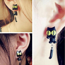 1 Pair Fashion Jewelry Women's 3D Animal Cat Polymer Clay Ear Stud Earring US04