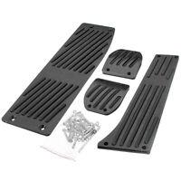 Black Aluminum Foot Rest Pedals MT Pads for BMW E30 E36 E46 E87 E90 E91 E92 E93