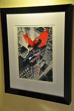 Encadrée superman alex ross print (dc, marvel, comic book art, man of steel)