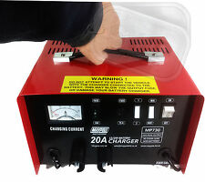Heavy duty metal case car battery charger professional lorry 20A 12v 24v 250Ahr