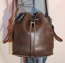 Vtg. COACH USA Brown Medium  Leather Shoulder Hobo Tote Satchel Slouch Purse Bag