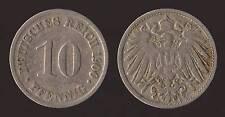 GERMANIA GERMANY 10 PFENNIG 1900 D