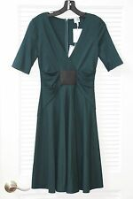 $995 NWT Armani Collezioni Italy Botle Green Stretch Jersey Elbow Sleeve Dress 2