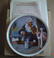 Knowles American Fine China THE COOKING LESSON By Norman Rockwell Boxed