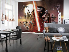 Star Wars Wall Mural photo Wallpaper for kids room 368x254cm Red Collage