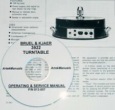 Bruel & Kjaer 3922 Turntable, Operating & Service Manual w/Schematics