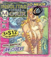 "INSOLITAS FORMAS DE MORIR ""UNUSUAL WAYS TO DIE"" comic SEXY GIRLS SPICY #6"