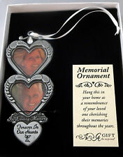 Hearts In Loving Memory Photo Ornament Forever In Our Hearts Memorial Christmas