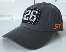 Stihl Gray Fabric Hat Cap w Patch Logo and STIHL Embroidery on Side