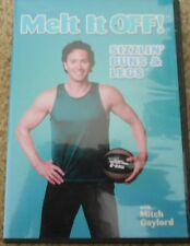 Melt It Off With Mitch Sizzlin Buns & Legs Workout DVD Fitness Exercise Ball