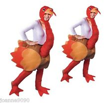 Funny Christmas Ride On Step In Thanksgiving Turkey Fancy Dress Costume Outfit