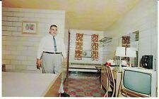 """Indianapolis IN  """"The Del-Ray Motel """" Rt. 40  Postcard Indiana *FREE US SHIP"""