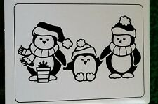 "DARICE EMBOSSING FOLDER-4 1/4""WX 5 3/4""H-PENGUINS - 1219-419 - CHRISTMAS-WINTER"