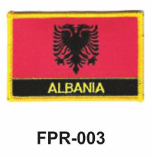 "2-1/2'' X 3-1/2"" ALBANIA Flag Embroidered Patch"