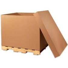 """48X40X36"""" HEAVY DUTY TRIPLE-WALL GAYLORD BOXES - NEW!!  LOT OF 10 BOXES"""