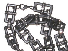 LIA SOPHIA Red Carpet Black Chain Link & Crystal Necklace $1200