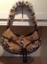 GORGEOUS DENTS FAUX FUR & SUEDE SHOULDER BAG USED RARELY GREAT CONDITION