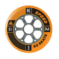 K2 Inliner Rollers Set 4 Piece 90mm 85A for Roller Blades Fitness Skates Skating