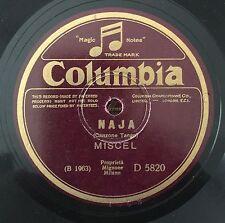 """RARE 78RPM 10"""" MISCEL NAJA / SON TUTTE ROSE COLUMBIA D 5820  MICHELE CIMATO"""