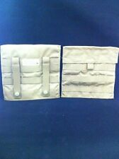"SET OF 2 NEW MOLLE SIDE PLATE POCKETS Great For Maps, Tools COYOTE ""EAGLE"""