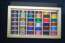 36 Grandes Bobine de Fil, Soie, Tinsel, Câbler et Laine, Multicolore
