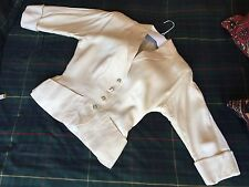 Vintage 1940's jacket WW2 Pure silk Ivory Small 10 UK very good