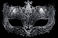 Silver Style Masquerade Ball Face Mask Dress up party Matt Vintage style Mask