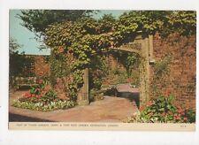 Tudor Gardens Derry & Toms Roof Garden Kensington London Old Postcard  247a