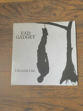 FAD GADGET - LIFE ON THE LINE - SYNTH POP,FRANK TOVEY - UK PRESSING!!!