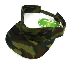 SOLID WOODLAND CAMO CAMOUFLAGE PRINT VISOR SNAPBACK HAT CAP ADJUSTABLE GOLF NWT