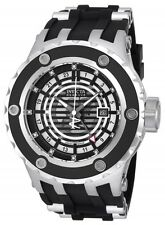 New Men's Invicta 16821 Subaqua Reserve Swiss GMT Silver Dial Black Poly Watch