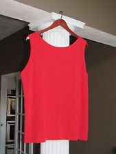 Chico's Travelers Chinese Red Reversible Tank Top Shell Cami Size 1 (8-10) NWT