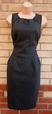 FLORENCE FRED LIMITED EDITION GREY TAILORED THICK TULIP PENCIL BODYCON DRESS 12