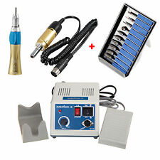 Laboratorio dental Micromotor Motor eléctrico with Straight Nose Cone + 10 Burs