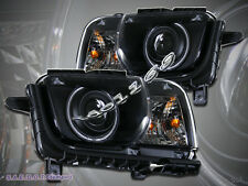 2010-2012 Chevy Camaro Projector Headlights CCFL Halo Black Head Lamps