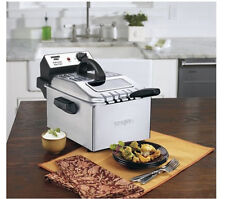 Waring Pro WPF503-BJ 1800-Watt Deep Fryer, Brushed Stainless Steel,Digital Timer