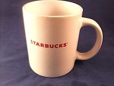 Starbucks mug white red lettering 2009 cup coffee